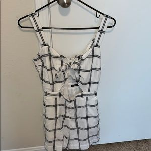 Cute romper with bow tie